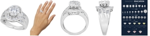 Macy's Diamond Halo Baguette Engagement Ring (2 ct. t.w.) in 14k White Gold