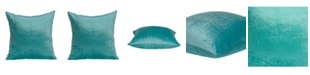 Parkland Collection Camila Transitional Aqua Solid Pillow Cover With Down Insert
