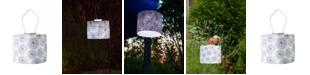 Allsop Home & Garden Soji Printed Stella Urchin Drum Solar Lantern