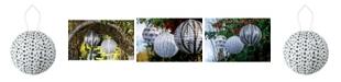 Allsop Home & Garden Soji Printed Micro Dot Round Solar Lantern