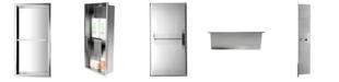 ALFI brand Polished Stainless Steel Vertical Double Shelf Bath Shower Niche