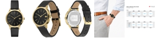 Lacoste Women's 12.12 Black Leather Strap Watch 36mm