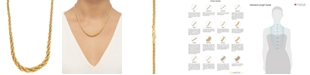 """Macy's Graduated Rope Link 18"""" Chain Necklace (3mm - 6.25MM) in 14k Gold"""