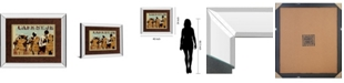 "Classy Art Café Saint Jean by Kyle Mosher Mirror Framed Print Wall Art, 34"" x 40"""