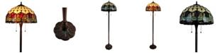 Amora Lighting Tiffany Style Tulips Floor Lamp