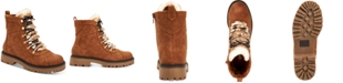 Style & Co Morggan Lace-Up Lug Sole Combat Booties, Created for Macy's