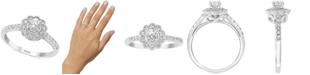 EFFY Collection EFFY® Diamond Flower Statement Ring (5/8 ct. t.w.) in 14k White Gold