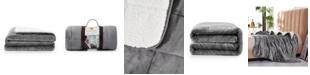 rejuve Rejuve 10lb Shiny Flannel Sherpa Weighted Blanket