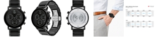 Movado Men's Swiss Chronograph Bold Evolution Black Ion-Plated Steel Bracelet Watch 42mm