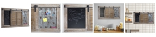 Crystal Art Gallery American Art Decor Rustic Wood Sliding Barn Door Chalkboard