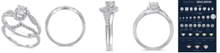 Macy's Certified Diamond (3/8 ct. t.w.) Bridal Set in 14K White Gold