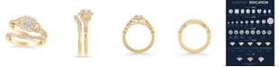 Macy's Diamond Princess Bridal Set (3/4 ct. t.w.) in 14k Yellow, White or Rose Gold