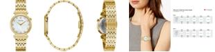 Bulova Women's Regatta Diamond-Accent Gold-Tone Stainless Steel Bracelet Watch 30mm