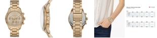 Michael Kors Women's Chronograph Layton Gold-Tone Stainless Steel Bracelet Watch 42mm