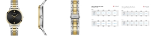 GUESS Unisex Diamond-Accent Two-Tone Stainless Steel Bracelet Watch 40mm