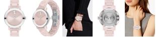 Movado Women's Swiss Bold Blush Ceramic Bracelet Watch 36mm