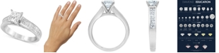 Macy's Diamond Princess Solitaire Engagement Ring (1-5/8 ct. t.w.) in 14k White Gold