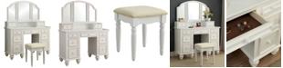 Furniture of America Izadine Multi-Drawer Vanity Set