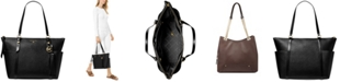Michael Kors Sullivan Large Leather Top Zip Tote