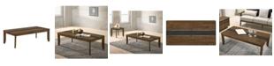 Furniture of America Sesia Two-Tone Coffee Table
