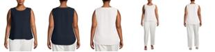 Anne Klein Plus Size Scoop-Neck Sleeveless Top