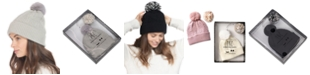 INC International Concepts INC Beanie With 2 Interchangeable Poms, Created for Macy's