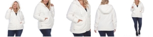 White Mark Women's Plus Size Sherpa Jacket