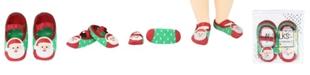 NWALKS Baby Boys and Girls Anti-Slip Socks with Santa Claus Applique