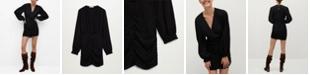 MANGO Women's Puffed Sleeves Dress