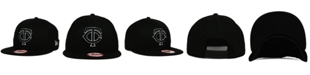 New Era Minnesota Twins Black White 9FIFTY Snapback Cap