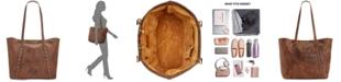 Patricia Nash Distressed Leather Vintage Benvenuto Tote