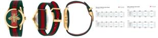 Gucci Unisex Swiss Le Marché Des Merveilles Green & Red Striped Nylon Strap Watch 38mm YA126487