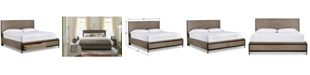 Furniture Avery Brown King Storage Bed