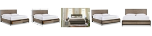 Furniture Avery Brown Queen Storage Bed