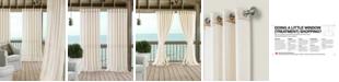 """Elrene Carmen Sheer 114"""" x 84"""" Extra-Wide Indoor/Outdoor Grommet Curtain Panel with Tieback"""