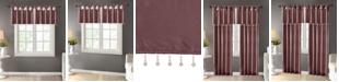 "Madison Park Emilia 50"" x 26"" Lined Faux-Silk Twisted Tab Curtain Valance"
