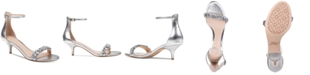 Jewel Badgley Mischka Dash Kitten-Heel Evening Sandals