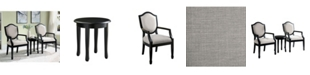 Furniture of America Hallow 3-Piece Accent Table Set