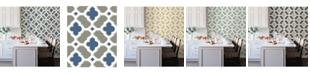 "Brewster Home Fashions Lido Quatrefoil Wallpaper - 396"" x 20.5"" x 0.025"""