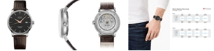 Mido Men's Swiss Automatic Baroncelli Brown Leather Strap Watch 40mm
