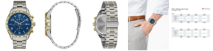 Caravelle Men's Chronograph Two-Tone Stainless Steel Bracelet Watch 44mm