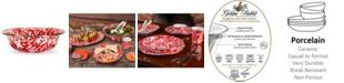 Golden Rabbit Red Swirl Enamelware Collection 4 Quart Serving Bowl