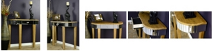 Heather Ann Creations Heather Ann Elenor Mirrored Console Table with Drawer
