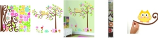 York Wallcoverings Happi Scroll Tree Peel and Stick Megapack