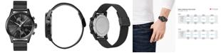 BOSS Men's Chronograph Jet Black Ion-Plated Stainless Steel Mesh Bracelet Watch 41mm