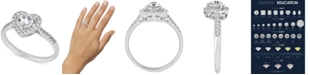 Macy's Diamond Heart Halo Ring (1/2 ct. t.w.) in 14k White Gold