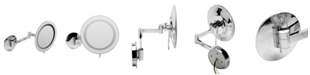 ALFI brand Chrome Wall Mount Round 5x Magnifying Cosmetic Mirror with Light