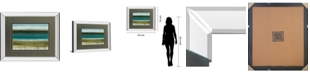 "Classy Art Shoreline Horizons by Heather Mcalpine Mirror Framed Print Wall Art, 34"" x 40"""