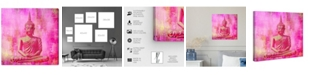 "Oliver Gal Buddha Pink Canvas Art, 16"" x 16"""