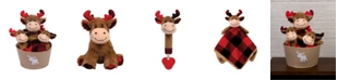 Trend Lab Buffalo Check Moose 4-Piece Baby Gift Set
